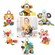 ( 2 unids ) 2015 nuevo bebé juguetes de bebé juguetes móviles felpa cama del torno cuna coche colgando traqueteos del bebé traqueteos educativos regalo navidad