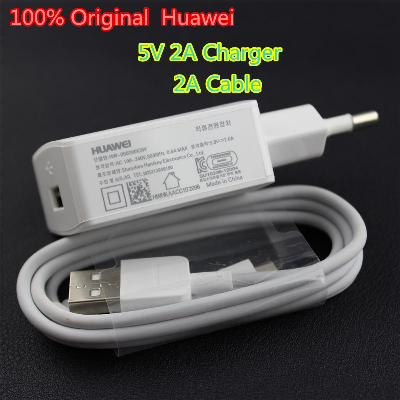 Original 5V / 2A USB Quick Travel Charger Adapter EU Plug For Huawei Ascend P6 P7 Honor 3C 3X 6 Plus Mate 7 + Original 2A cable(China (Mainland))