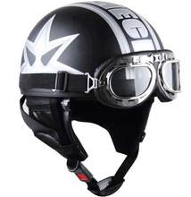 free shipping motorcycle helmet Novelty helmet with goggles(China (Mainland))