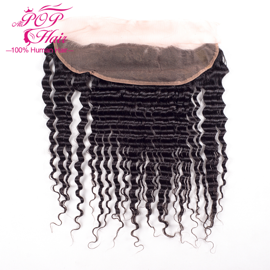 Peruvian Virgin Hair Deep Wave Lace Frontal Closure,7a Lace Frontal Closure With Bundles 4x13  Soft Peruvian Lace Frontal<br><br>Aliexpress