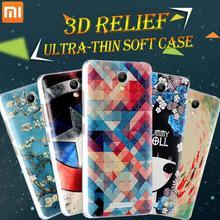 2015 new 3D silicon soft case For xiaomi hongmi redmi note 2 redmi note2 case cover 5.5 inch