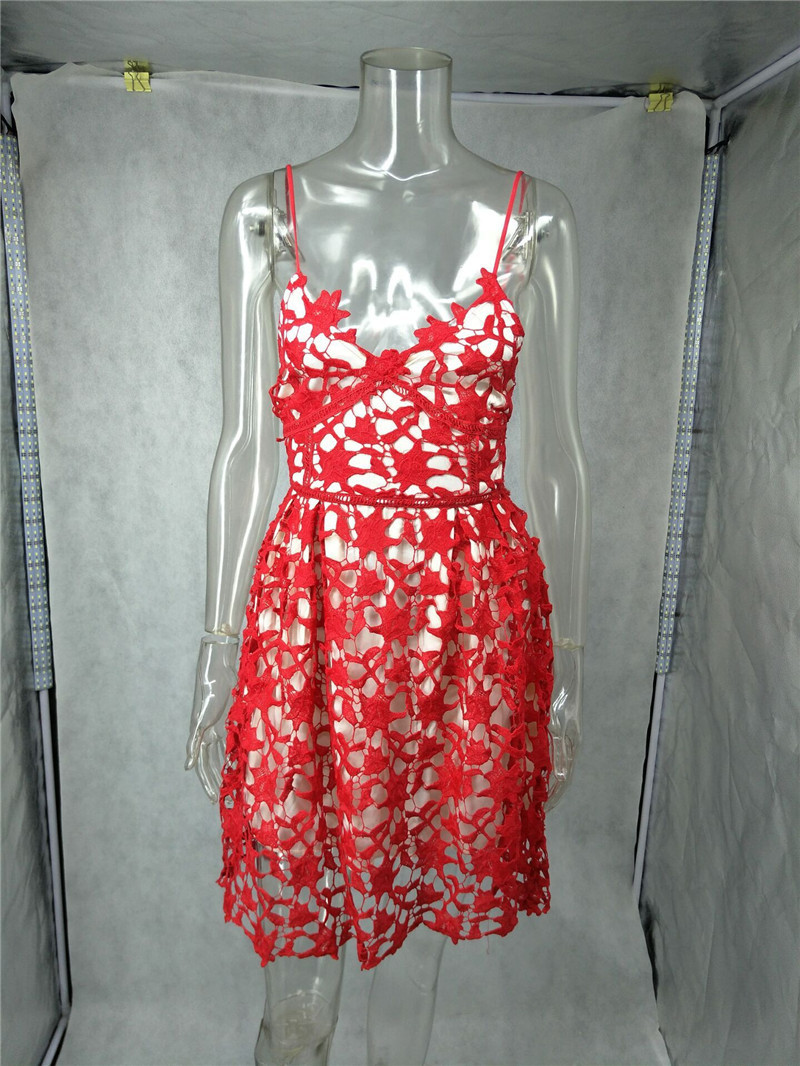Sexy Hot red fita oco mulheres vestido Do Vintage impressão irregular fora do ombro 2016 verão sem costas vestido de festa vestidos