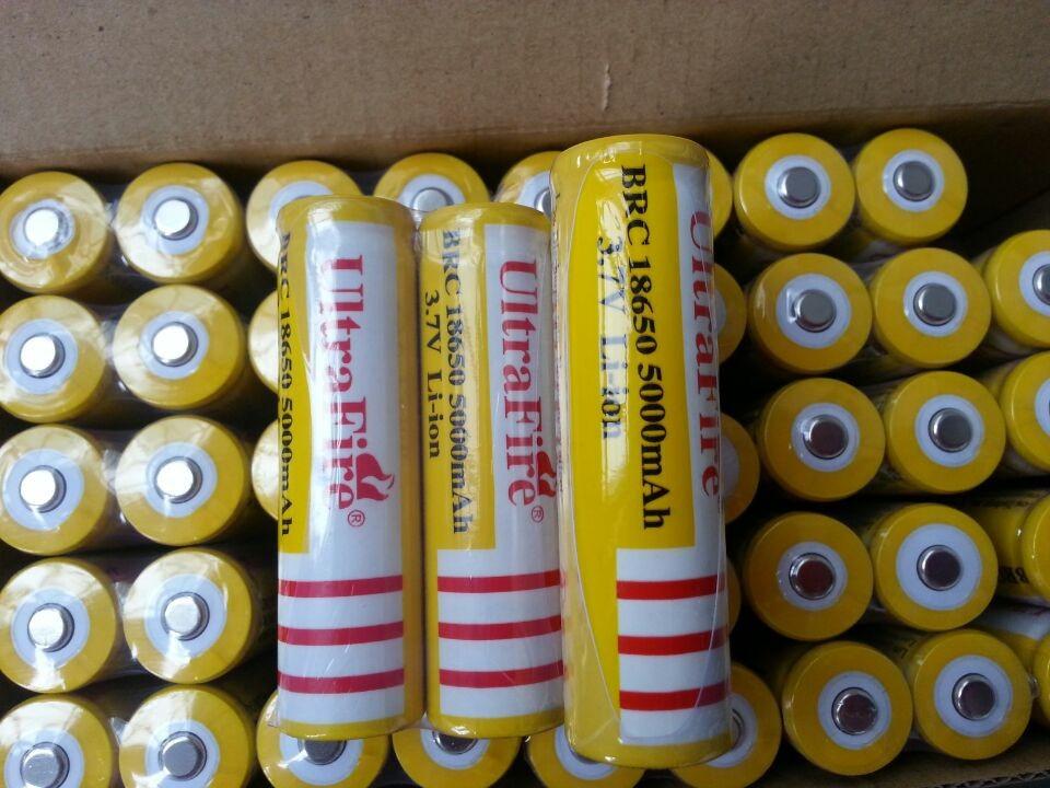 Factory Direct 3Pcs lot UltraFire Battery 18650 3 7 v Li Ion 5000mah Rechargeable Battery For