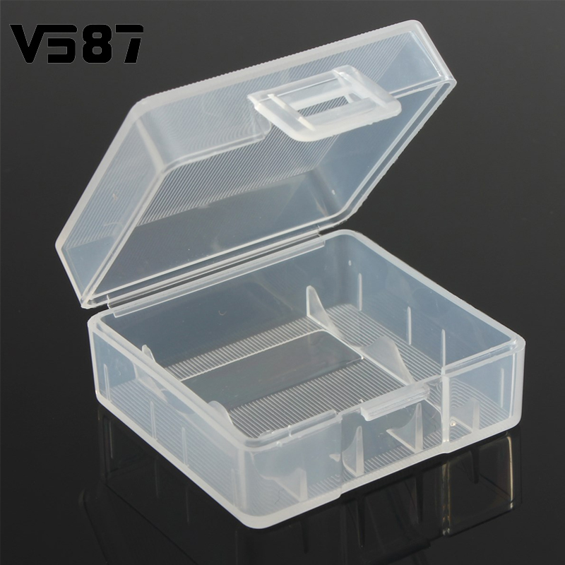 5Pcs Hard Plastic Battery Holder Portable Square Storage Box Cover Case For 2x18350 Batteries Organizing(China (Mainland))