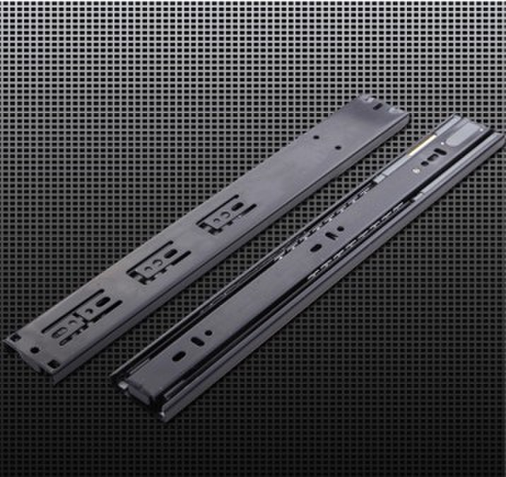 Three mute damping rail cabinet furniture drawer slides buffer hydraulic ball slide rail(China (Mainland))