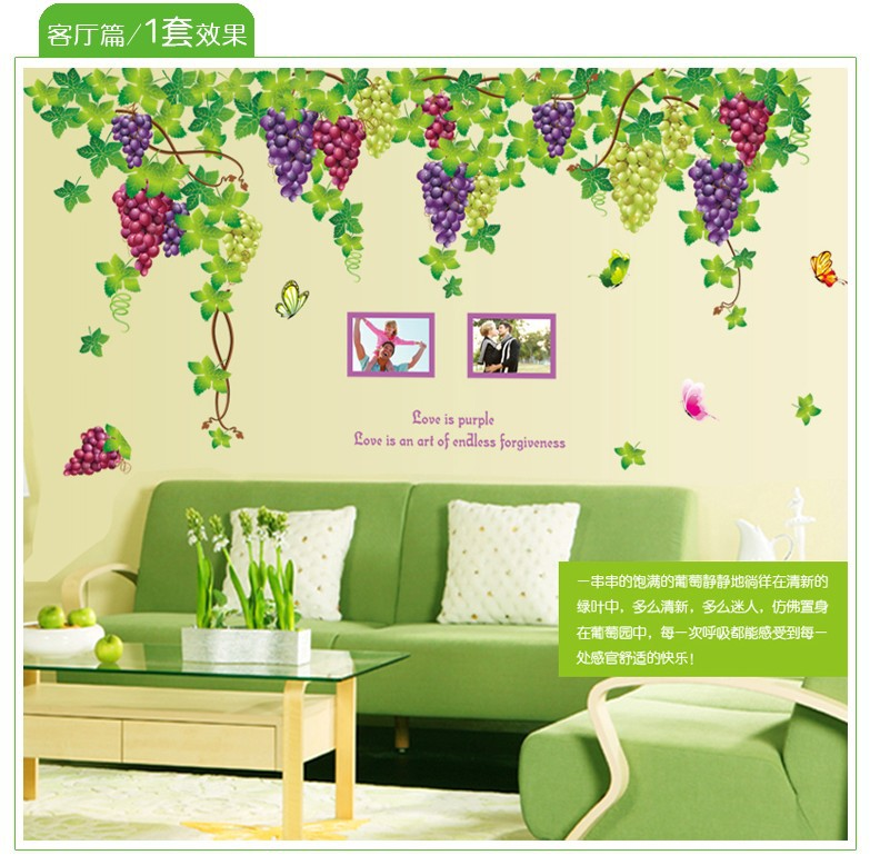 2015 Direct Selling Vinilos Paredes Bedroom Living Room Tv Backdrop Butterfly Vine Nursery