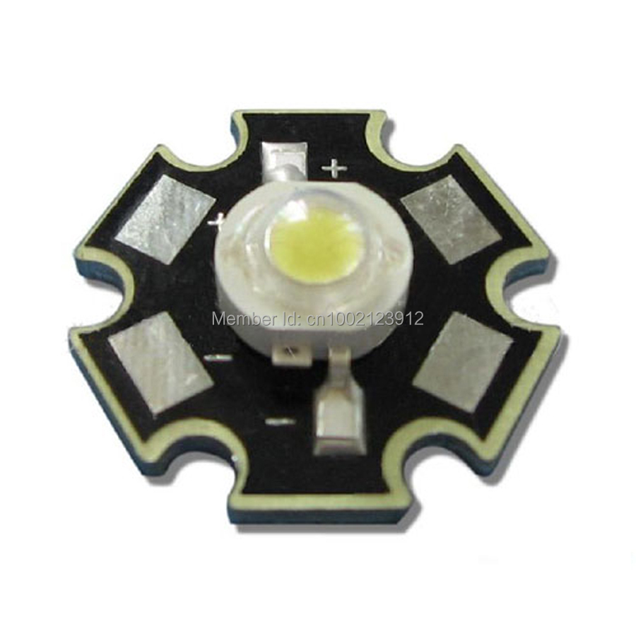 100pcs 3W 45mil Chip 4000K~4500K Natural White LED Light Lamp Emitter With 20mm Star Base(China (Mainland))