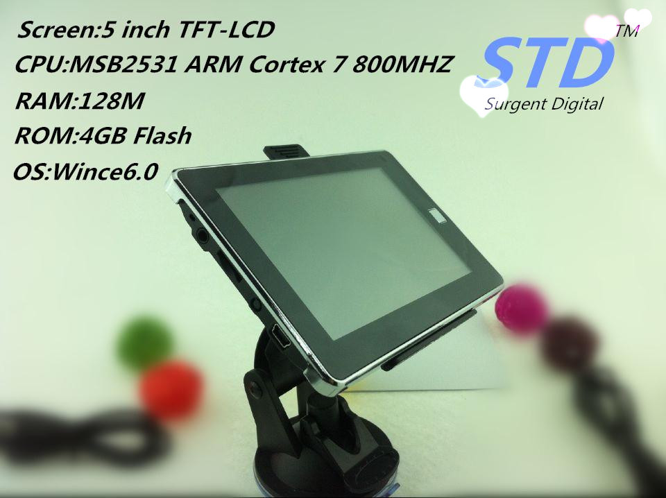5 inch TFT-LCD screen car GPS with 128M/4GB,gps navigation support Multi Language and IGO maps of all countries(China (Mainland))