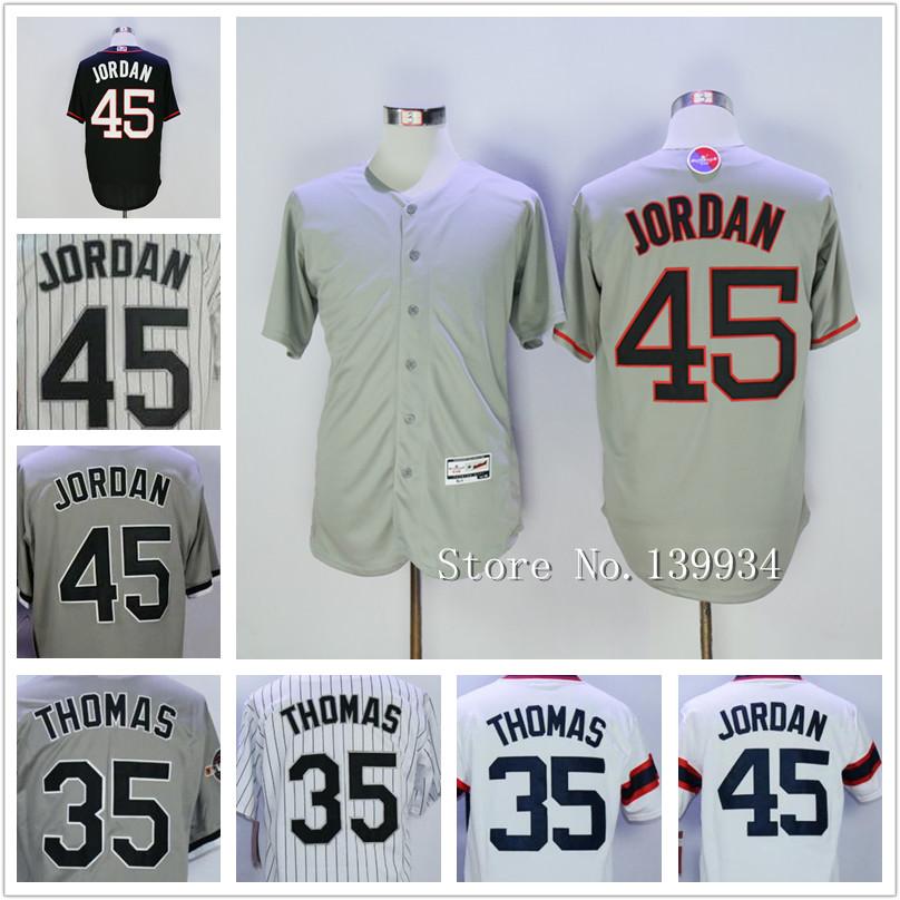 Men's #35 Frank Thomas 45 Michael Shirts White/Navy Blue Grey White Black Jerseys 2015-2016(China (Mainland))
