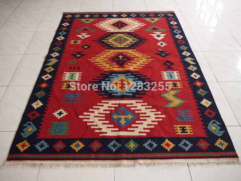 Turkish floor carpet area rug lattice Antrim carpet / kilim tapestry / tapestry / hand-woven rugs(China (Mainland))