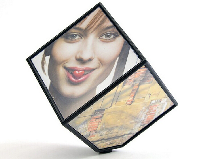 Art Decor creative six-sided photo frame/personality cube electric 360-degree dimensional rotating frame DIY picture frame(China (Mainland))