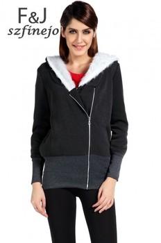 2015 Korea casual Women Hoodies Jacket Coat Warm Outerwear Hooded Sweatshirts Zip 5 Colors M L XL XXL Free shipping 34