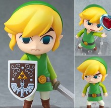 The Legend of Zelda Link Nendoroid Game Legend of Zelda PVC Action Figure 10CM Q Ver. Zelda Link Collectible Model Toy Doll(China (Mainland))