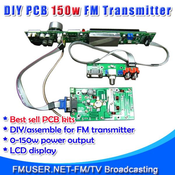 FMUSER FSN-150K 150W FM Broadcast Transmitter Assemble PCB DIY Kit Amp+Control+LCD Display(China (Mainland))
