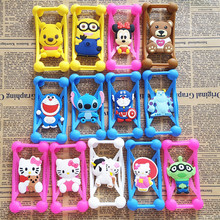 Buy Anti Knock Silicone 3D Cartoon Stitch kitty Universal Phone Frame Bumper Case iPhone 4 5 S 6 7 Plus Phone 3-6 inch Scree for $1.29 in AliExpress store
