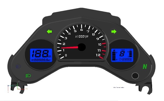CBR150 CBR-125R 125cc 150CC STREET BIKE Motorcycle LCD LED digital Odometer Speedometer free shipping(China (Mainland))