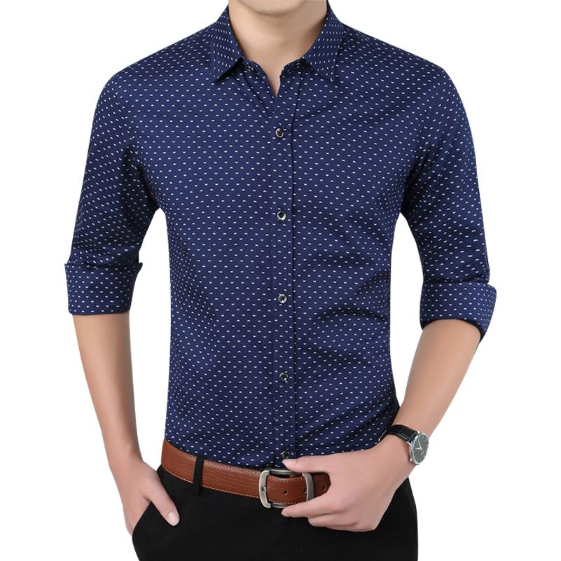 Hot Sale High Quality Brand Men's Shirt Slim Fit Tuxedo Shirts Men New Fashion Turn-down Collar Long Sleeve Printed Camisa D4004(China (Mainland))