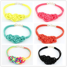 N022  Fashion Pendant Choker Necklace For multicolor Creative Women Cotton Handwoven Rope Jewelry Charm Chinese Knot Necklace(China (Mainland))