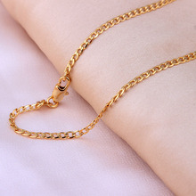 18k Gold plated Chains Necklace For Men chain length 16/18/20/22/24/26/28/30 inch 2mm Costome Accessories Jewelry wholesale(China (Mainland))