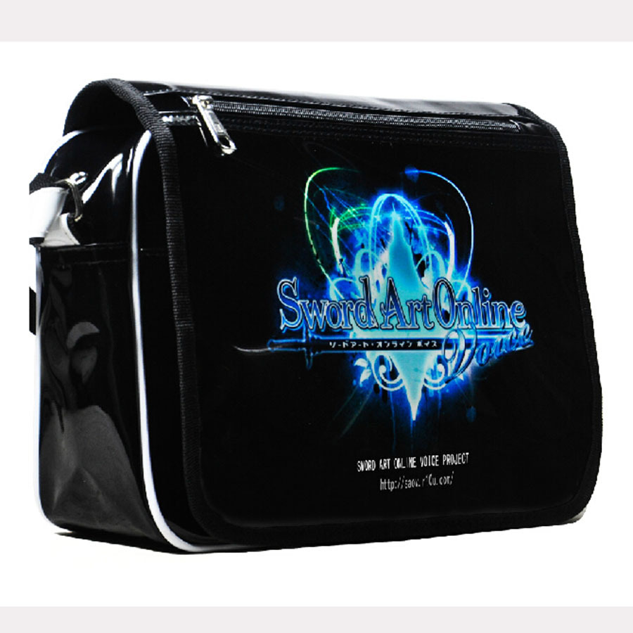 Sword Art Online Cosplay Shoulder Messenger Bag Anime Student School Bags PVC Single Handbag Waterproof Casual - Hangzhou Angelababy KIDS Clothing Co.,Ttd store