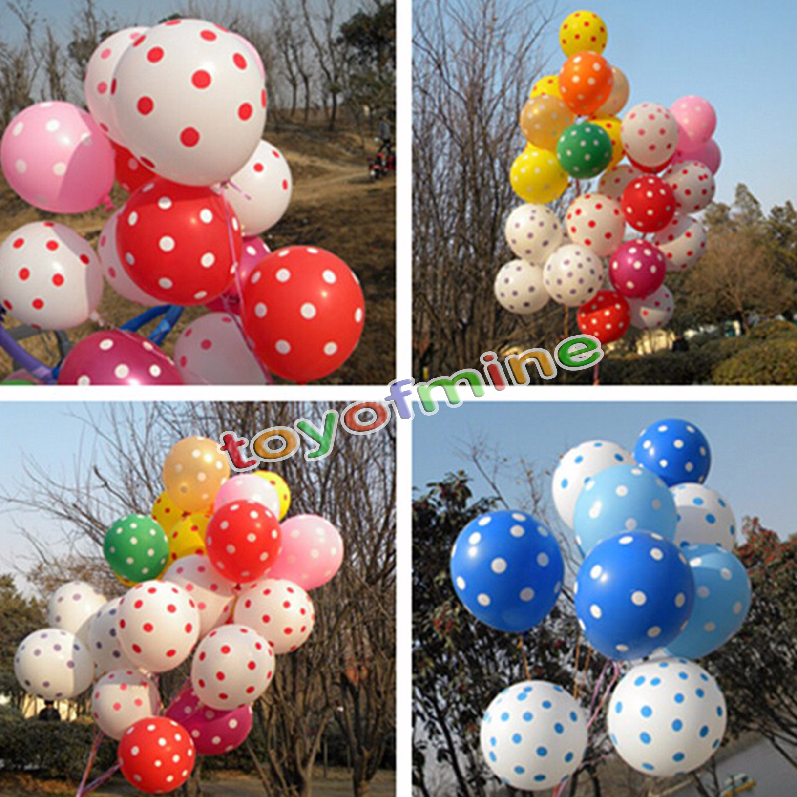 50PCS Polka Dot Latex Balloons Party Accessories Wedding Birthday Decorations Festival Decor Kids Toy(China (Mainland))
