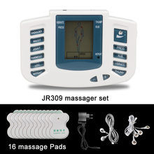 JR309 Health Care Electrical Muscle Stimulator Massageador Tens Acupuncture Therapy Machine Slimming Body Massager 16pcs pads(China (Mainland))