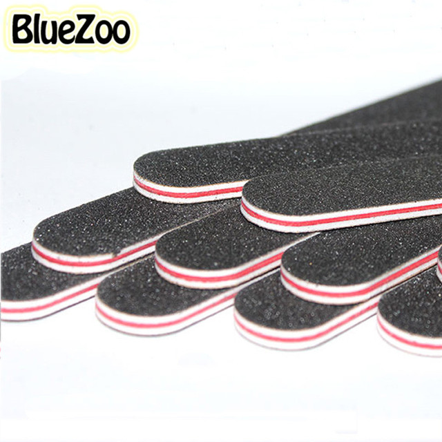 BlueZoo 10pcs Professional Nail Tool Nail Files Buffer Buffing Slim Crescent Sandpaper Manicure UV Gel For Nail Art Decoration