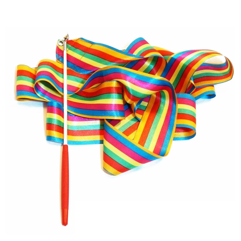 2016 Most Popular Ribbon Gymnastics Dance Dancer Toys Outdoor Games For Children Kids Sport Toys(China (Mainland))