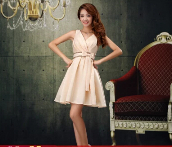 2015 new han edition champagne bridesmaid dresses dress women cultivate one's morality short engagement shoulders - weiilyu johns's store