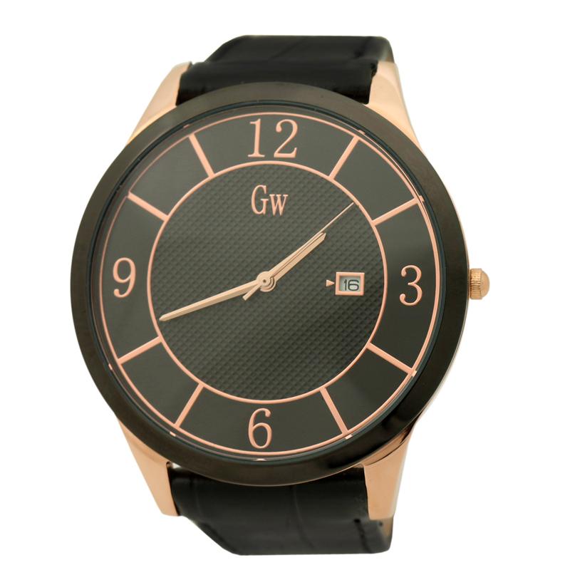 GOLD WINNER Brand Calendar Man Watches Business Stainless Steel Round Dial Date Waterproof Quartz Watches Wristwatches GW180080(China (Mainland))