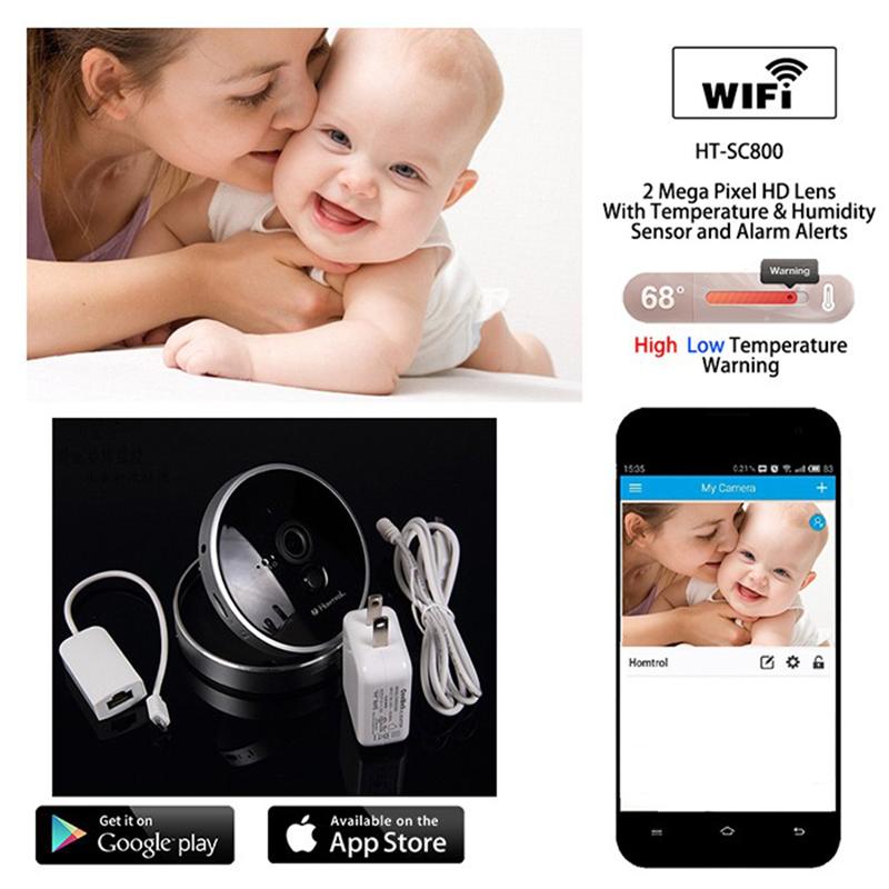 Babysitter Ip Camera Video Baby Monitor Security Cam Smart Cctv 2-Way Radio Music Playing Temperature Display Night Vision