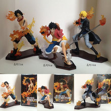 Mifen Craft New font b Anime b font Figures Attack Styling One Piece Ace Sabo Luffy