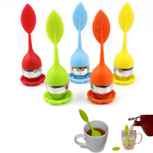 Food-grade Silicone & Stainless Steel Tea Leaf Strainer/Herbal Spice Infuser
