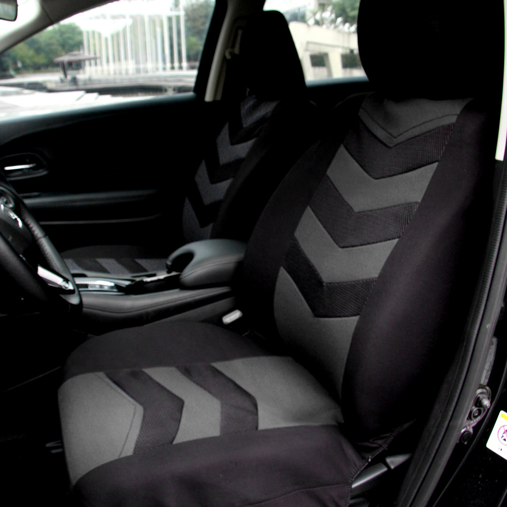 Universal Car Seat Cover Set 9Pcs Seat Covers Front Seat Back Seat Headrest Cover Mesh Black and Gray Blue Option for Sedan SUV(China (Mainland))
