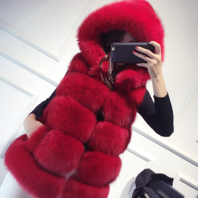 Top Quality Whole Skin Natural Fox Fur Vest With Hood Womens Genuine Fox Fur Waistcoat Real Fox Fur Vest BF-V0312-3 Одежда и ак�е��уары<br><br><br>Aliexpress