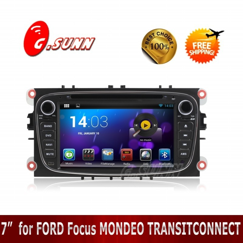 1080P Dual Core 7 inch Android 4.4.2 Car DVD Player GPS Navi PC for FORD Focus MONDEO TRANSITCONNECT(China (Mainland))