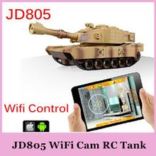 Jxd JD805 WIFI RC Tank avec caméra Suport iPhone / iPad / Android en temps réel de Transmission vidéo contrôle Rmote jouets 2015 HOT originale(China (Mainland))