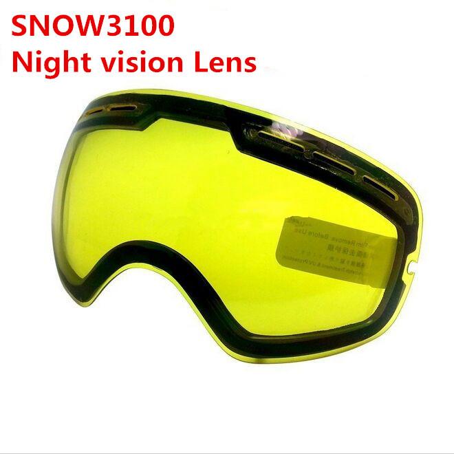 BENICE Brand anti-fog big spherical Night vision Lens ski goggles double lens SNOW3100 increase brightness Cloudy night to use(China (Mainland))