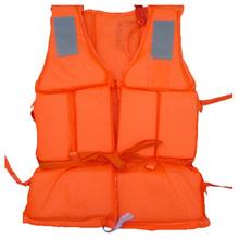 Orange Prevention Flood Fishing Rafting Drift Sawanobori Adult Foam Life Jacket Vest Flotation Device + Survival Whistle(China (Mainland))