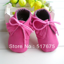 Baby girl kids shoes toddlers prewalker First Walkers with tassel decoration 6pairs/lot free shipping(China (Mainland))