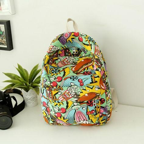 Девушки холст дорожная сумка мультфильм женщин рюкзак bookbags новый 78516