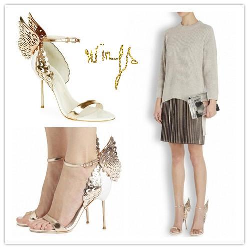 Здесь можно купить  New Fashion Women Soft Leather Elegant Fretwork Sandals Party Banquet Shoes Buckle Strap Summer Platform Shoes Sandals Wings  Обувь