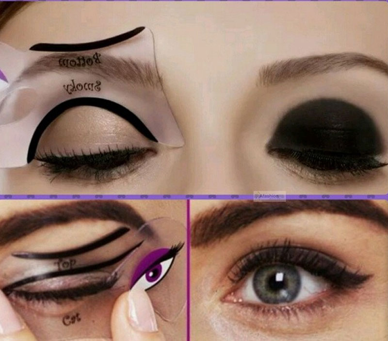 Eyeshadow Eyeliner Stencil Beautiful Eyeshadow - Eyeshadow template