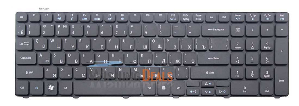 New Russian RU black Keyboard for Acer Aspire 5739G 5740D 5740DG 5740G 5740Z F3 Wireless free shipping(China (Mainland))