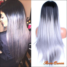 Lace Front Wig Silk