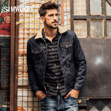 SIMWOOD 2016 New Winter Fashion Denim Jacket Men Casual Jeans Coats Outerwear Thicken Slim Fit Brand Clothing NJ6515(China (Mainland))