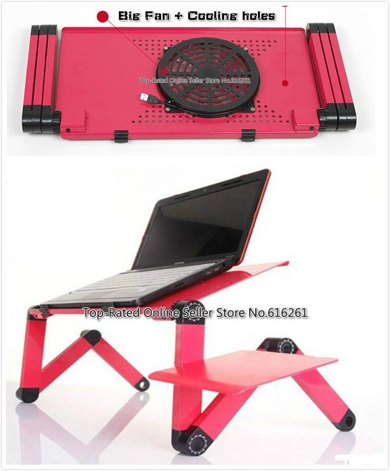 Ergonomic Laptop Cooling Table Stand For Bed Portable Sofa