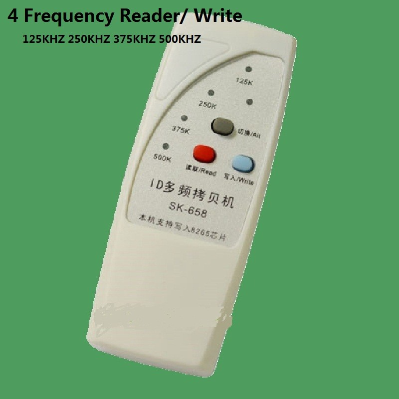 Handheld 4 Frequency 125khz 250k 375k 500k RFID Copier/ Duplicator/ Cloner ID EM Reader & Writer &5pcs Rewrite Tag Free Shipping