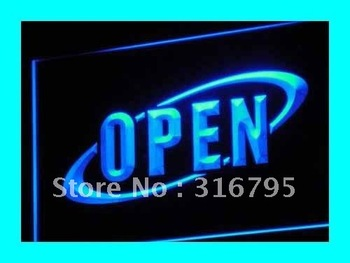i038-b OPEN NEW Cafe Restaurant Bar NR LED Neon Light Sign