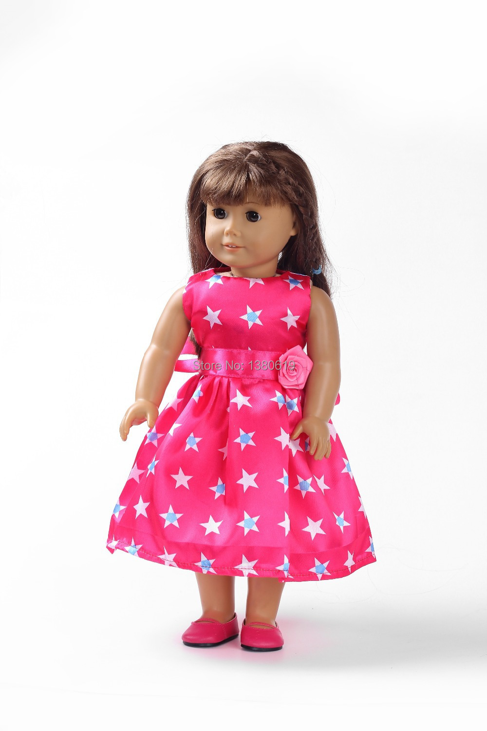 """Free shipping!!! hot 2014 Christmas giftnew style Popular 18"""" American girl doll clothes/dress w139(China (Mainland))"""